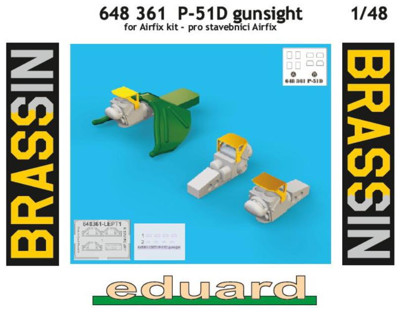 648361 Eduard 1//48 Brassin gunsights for P-51D for Airfix kit