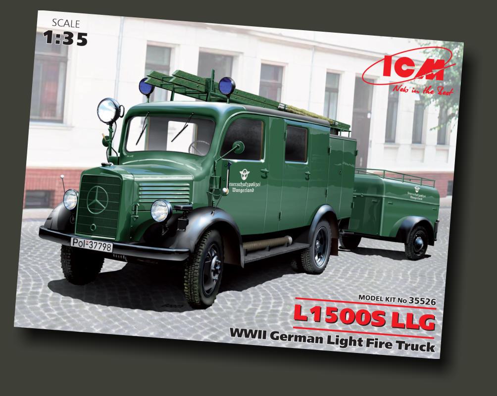 1//35 Montage Kit Modell L1500S Lf 8 ICM Deutsche Licht Feuerwehrauto