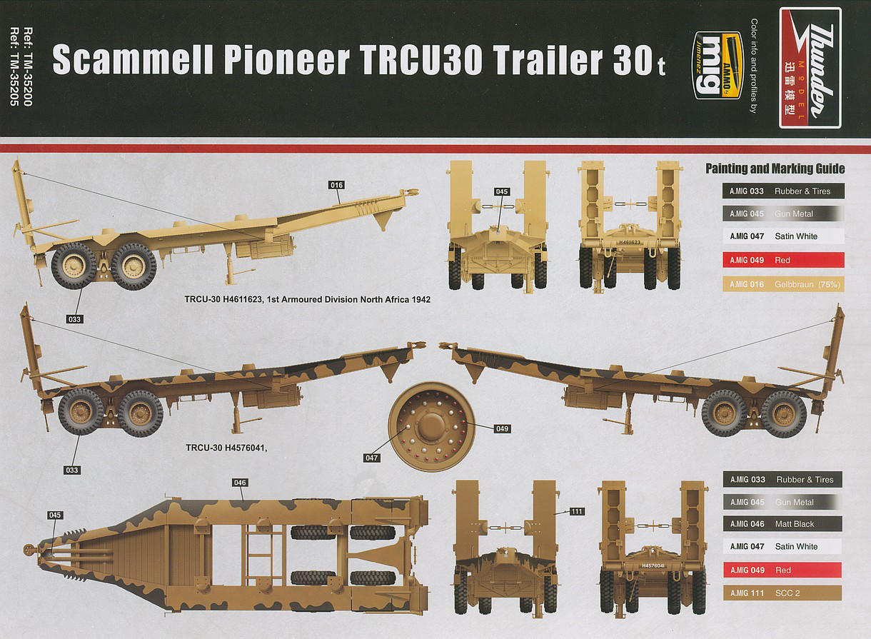 Thunder Model 35200 - Scammel Pioneer TRMU30/TRCU30 Tank Transporter