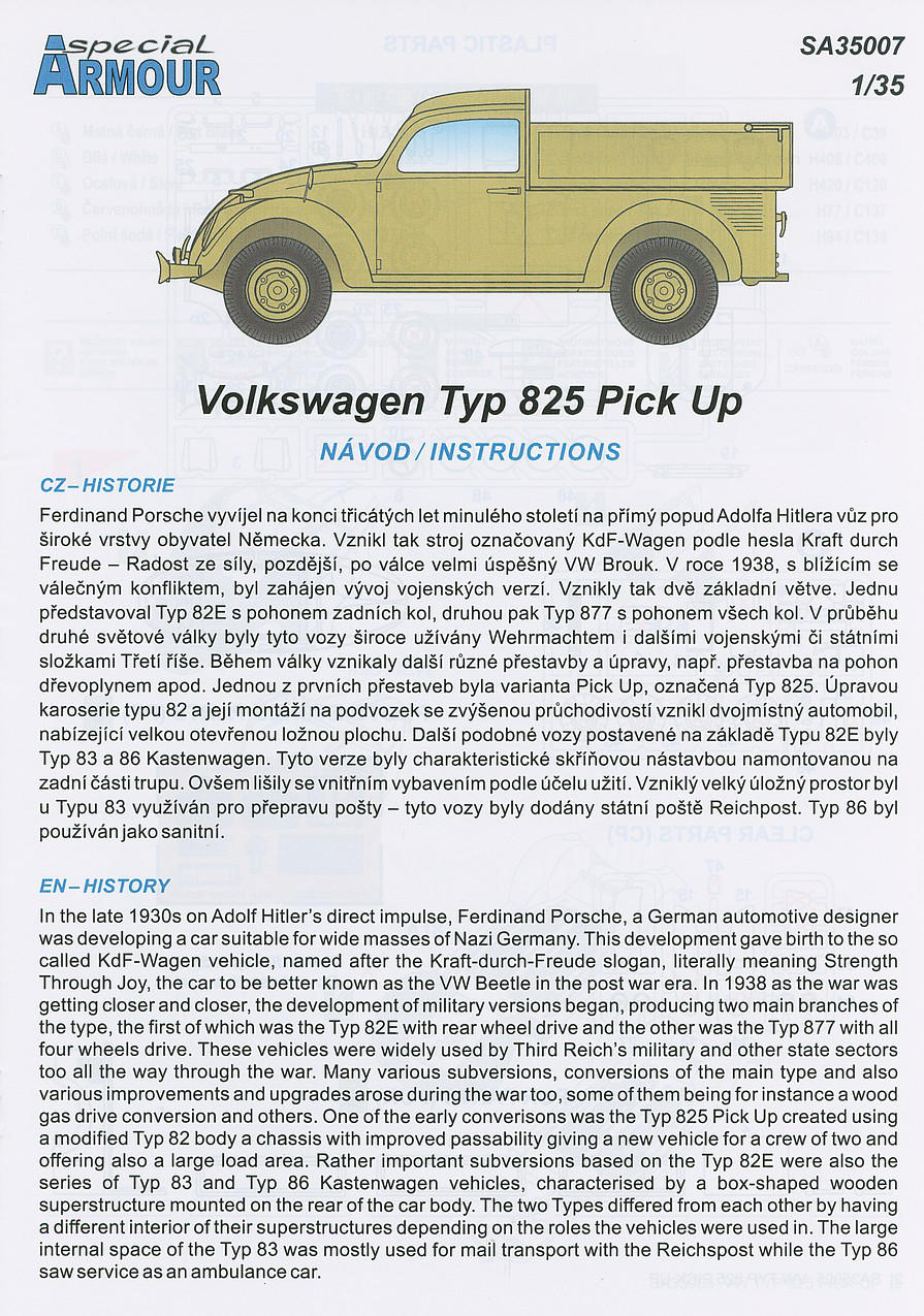 Special Armour SA35007 - VW Typ 825 Pick Up