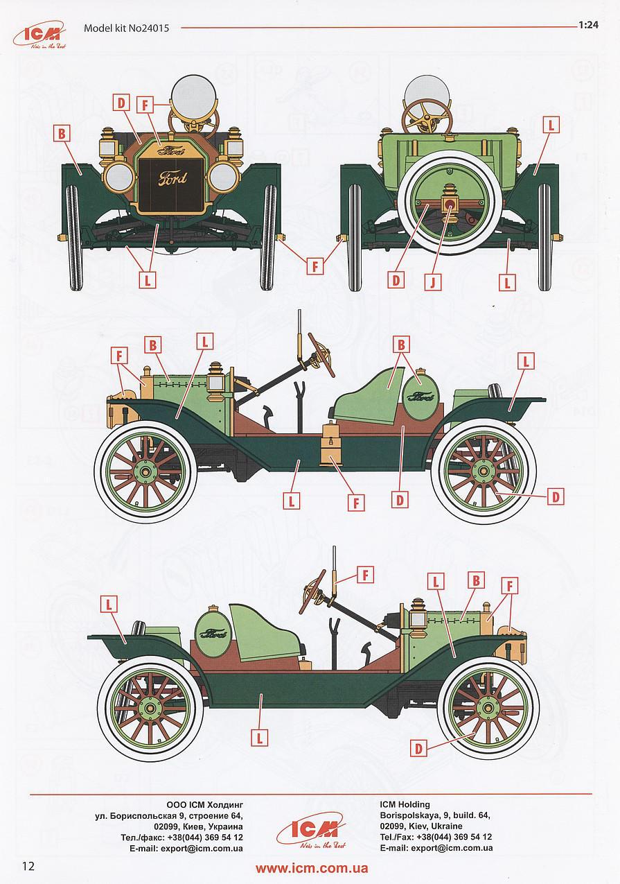 ICM 24015 - Model T 1913 Speedster,American Sport Car