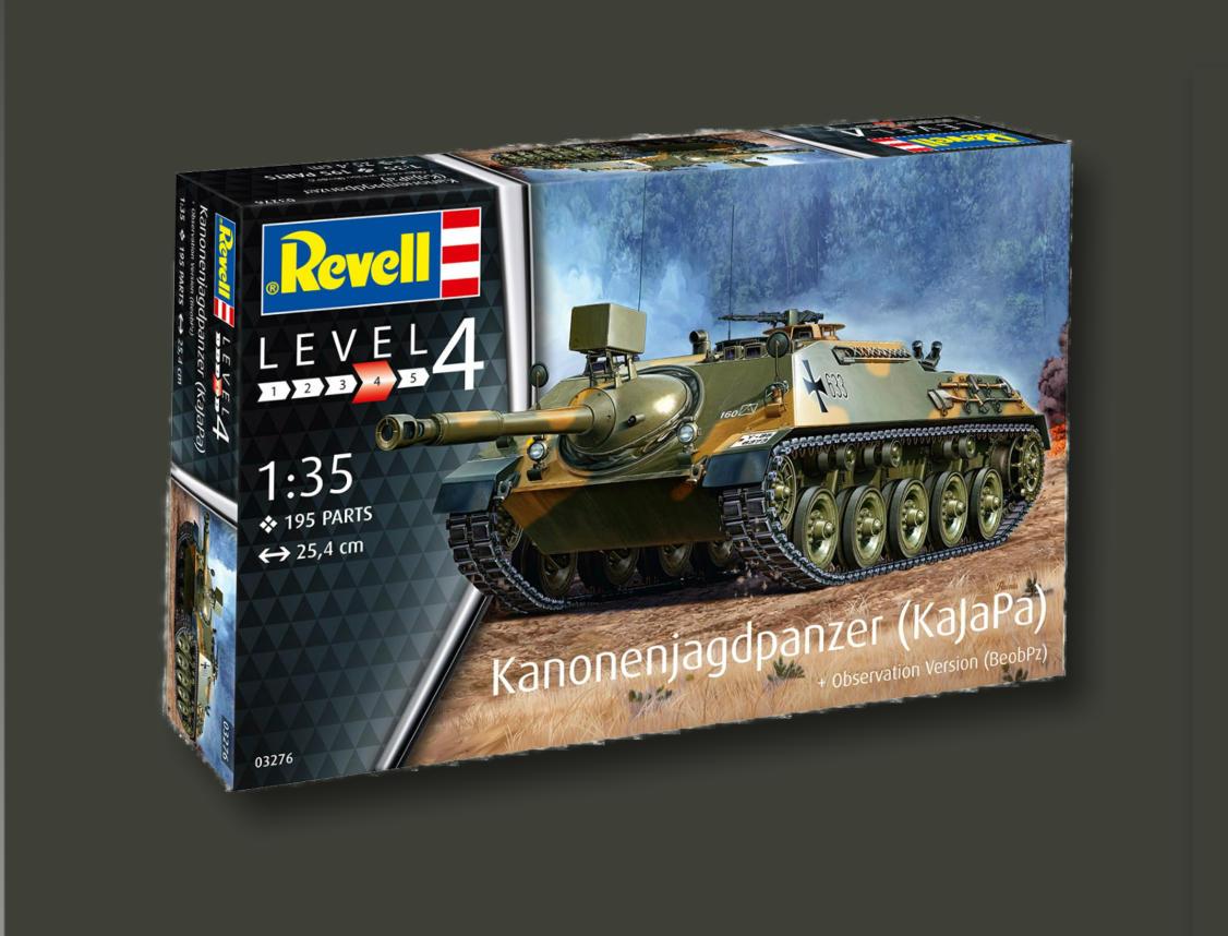 NEU Revell 03276 Deutscher Panzer Kanonenjagdpanzer Observation Version BeobPz