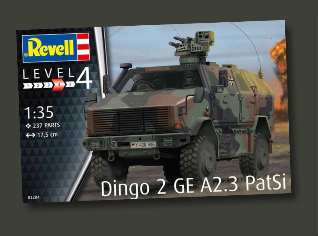 Bundeswehr Revell 03284-1//35 Dingo 2 GE A2.3 PatSi Neu